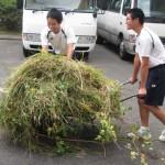 除草作業を行いました   長崎県立学校ホームページ